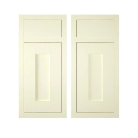 IT Kitchens Holywell Ivory Style Framed Corner Base Drawerline RH Door (W)925mm, Set of 2