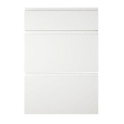 Cooke & Lewis Appleby High Gloss White Drawer Front (W)500mm, Set of 3