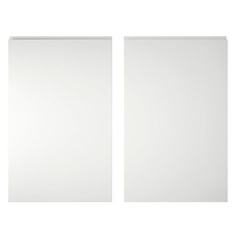 Cooke & Lewis Appleby High Gloss White Larder Door (W)600mm, Set of 2