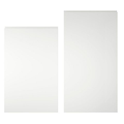 Cooke & Lewis Appleby High Gloss White Tall Larder Door (W)600mm, Set of 2