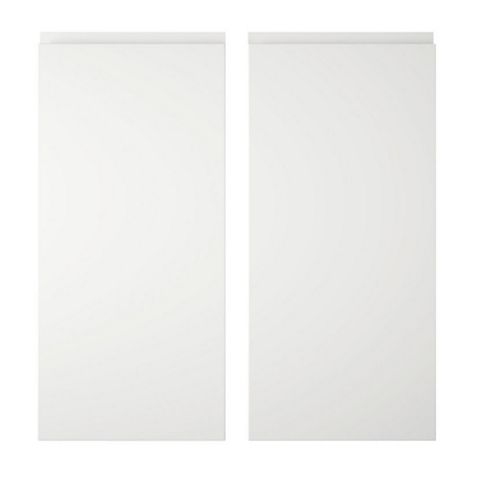 Cooke & Lewis Appleby White Base Corner Door (W)925mm, Set of 2