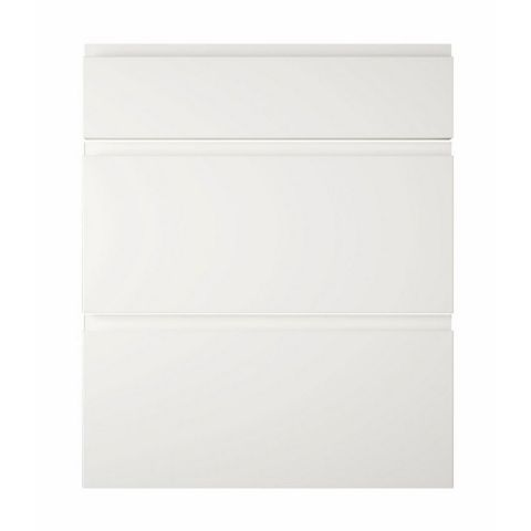 Cooke & Lewis Appleby High Gloss White Drawer Front (W)600mm, Set of 3
