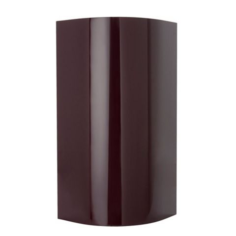 Cooke & Lewis High Gloss Aubergine Curved Wall & Base