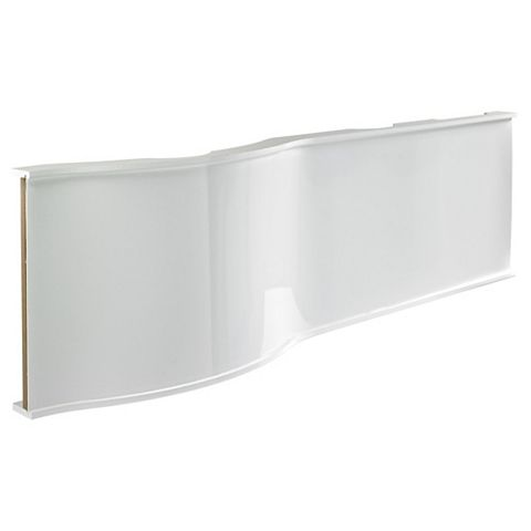Cooke & Lewis Adelphi Gloss White RH Bath Front Panel (W)1675mm
