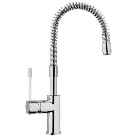 Cooke & Lewis Tronto Chrome Effect Spring Neck Tap