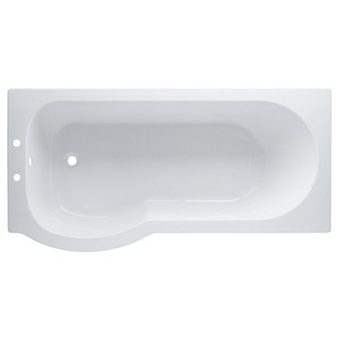 Cooke & Lewis Adelphi LH Supercast Acrylic Curved Shower Bath (L)1675mm (W)850mm