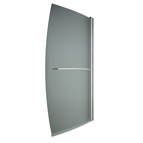 Cooke & Lewis Perdita Curved Compact Sail Bath Screen (W)900mm
