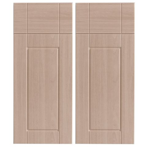 IT Kitchens Chilton Beech Effect Corner Base Drawer Line Door (W)925mm, Set of 2