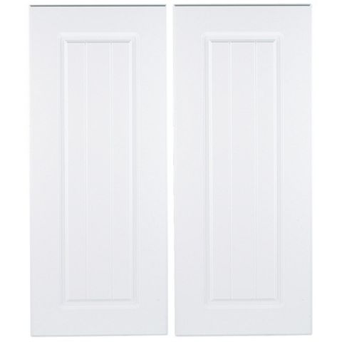 IT Kitchens Chilton White Country Style Corner Base Door (W)925mm, Set of 2