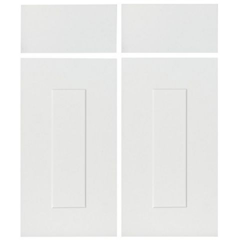 IT Kitchens Stonefield Ivory Classic Style Corner Base Drawerline Door (W)925mm, Set of 2