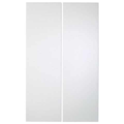 IT Kitchens Santini Gloss White Slab Corner Wall Door (W)625mm, Set of 2