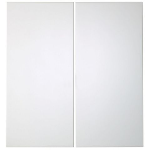 IT Kitchens Santini Gloss White Slab Corner Base Door (W)925mm, Set of 2