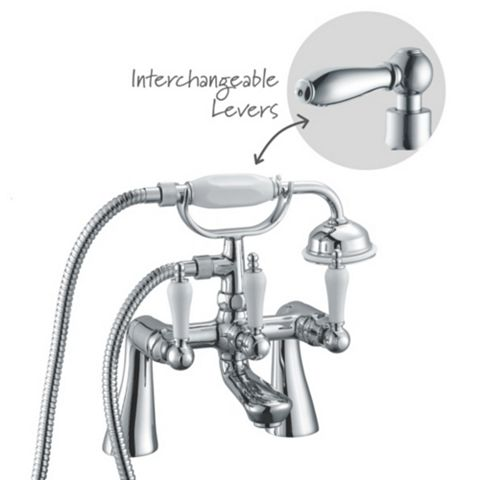 Cooke & Lewis Timeless Chrome Bath Shower Mixer Tap