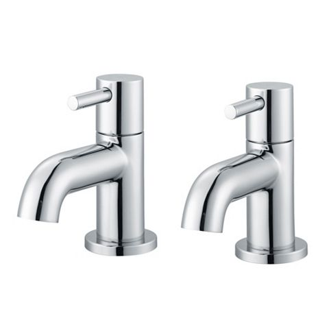 Cooke & Lewis Minima Chrome Hot & Cold Basin Taps, Pack of 2