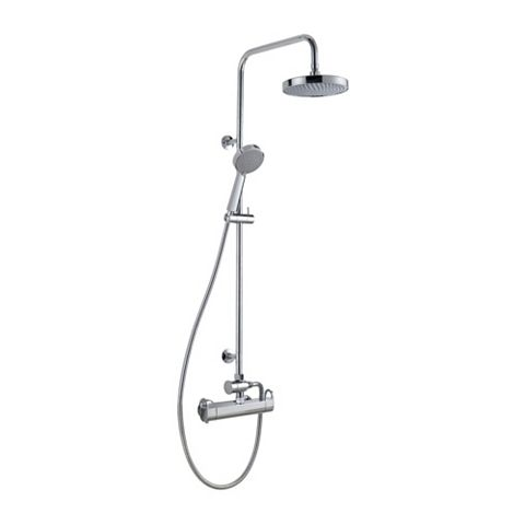 Cooke & Lewis Marano Rear Fed Chrome Thermostatic Mixer Shower