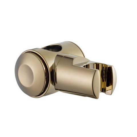 Gold Effect Shower Head Holder with Riser Rail Attachment