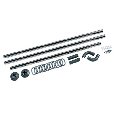 Silver Effect 5 Way Curtain Rail Kit (L)840mm