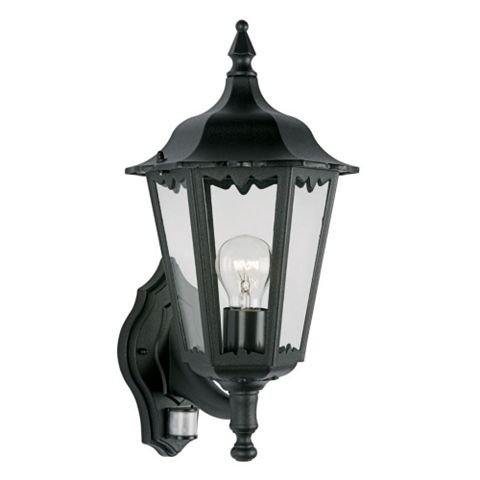 Lights Outside Waterville Black External PIR Lantern