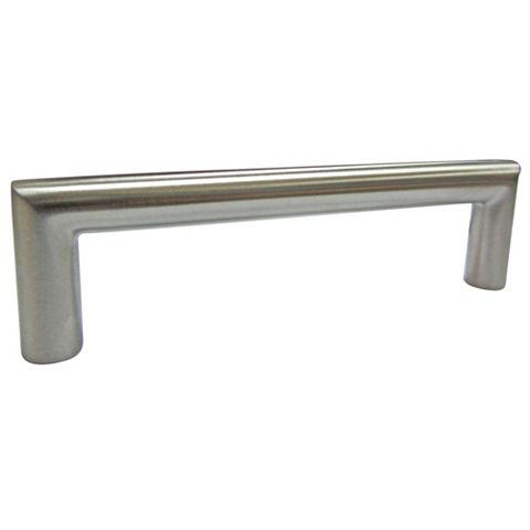 Satin Nickel Effect Bar Furniture Handle, Pack of 1