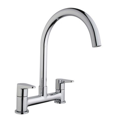 Cooke & Lewis Tone Chrome Effect Deck Mixer Tap