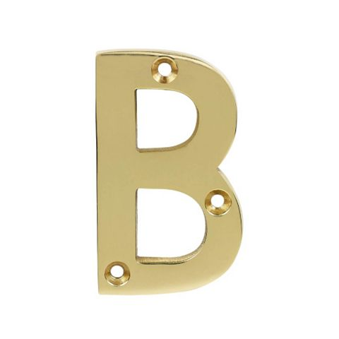 Brass Effect Zinc House Letter B