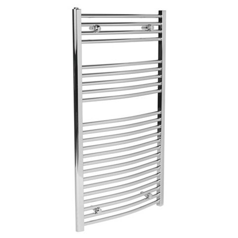 Curved Towel Warmer Chrome (H)1100 (W)600mm