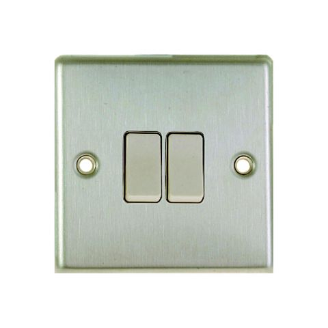 Lap 10A 2-Way Double White Light Switch
