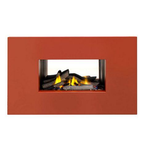Ignite Mono Terracotta Manual Control Inset Wall Mounted Gas Fire