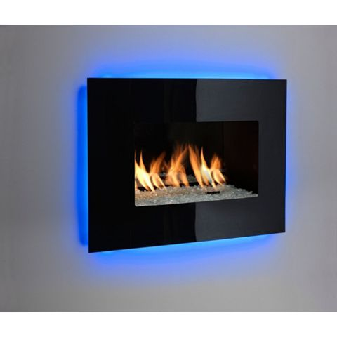 Ignite Fontana Black Manual Control Inset Gas Fire