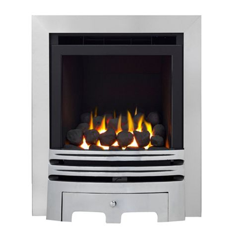 Westerly Glass Fronted Chrome Inset Full Depth High Efficiency Gas Fire