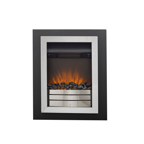 Easton Portrait Black & Chrome Internal & External Electric Fire