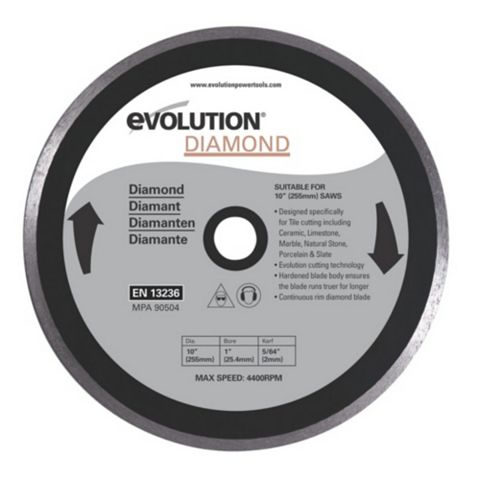 Evolution Fury (Dia)255mm Continuous Mitre Saw Blade