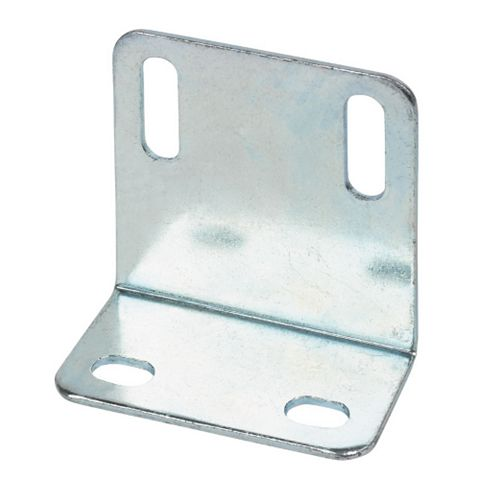Zinc-Plated Steel Angle Shrinkage Plate (L)25mm, Pack of 10
