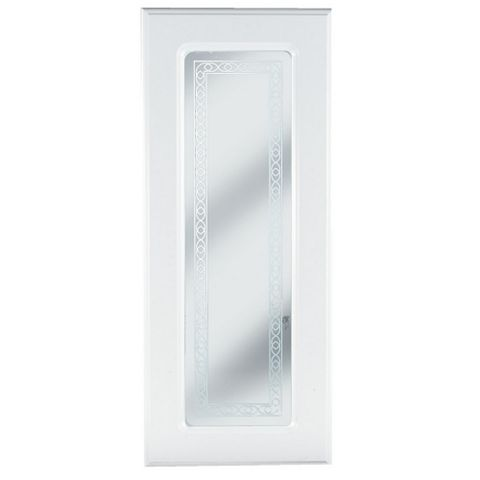 IT Kitchens Chilton Gloss White Style Glazed Door (W)300mm