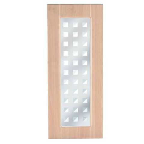 IT Kitchens Chilton Beech Effect Glazed Door (W)300mm