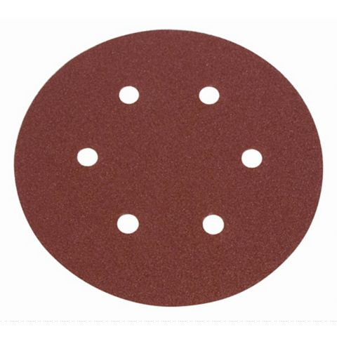 Flexovit 50/80/120 Grit Sanding Disc (W)150mm (Dia)150mm, Pack of 6