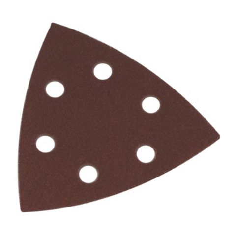 Flexovit (L) 145mm (D) 95mm Mixed Grit Delta Sanding Triangles Pack of 6