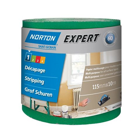 Norton 60 Coarse Sandpaper Roll