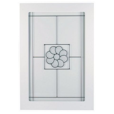 IT Kitchens Chilton White Country Style Glazed Door (W)500mm