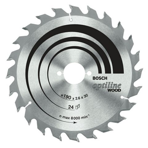 Bosch 24T Circular Saw Blade (Dia)190mm