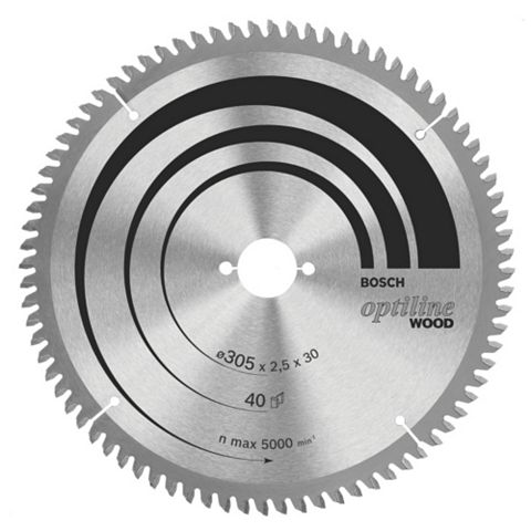 Bosch 40T Circular Saw Blade (Dia)305mm