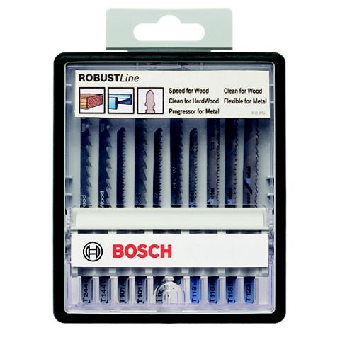 Bosch Bayonet Fitting Jigsaw Blade, Pack of 10