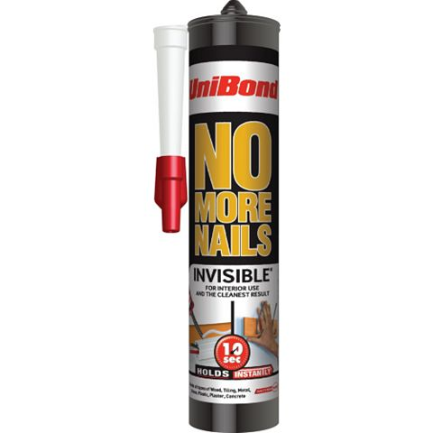 Unibond No More Nails Invisible Grab Adhesive 300ml
