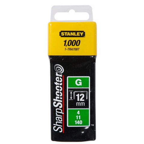 Stanley Staples 1-TRA708T (L)12mm 185G, Pack of 1000