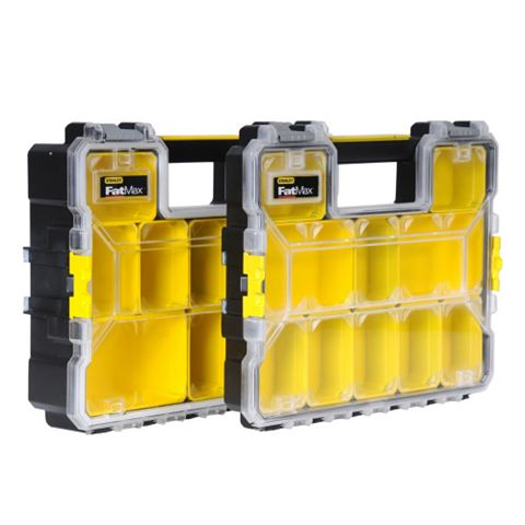 Stanley FatMax 10 Compartment Tool Organiser Twin Pack 10 Compartment Tool Organiser Twin Pack