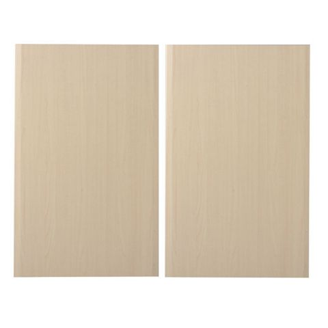 IT Kitchens Sandford Maple Effect Modern Larder Door (W)600mm, Set of 2
