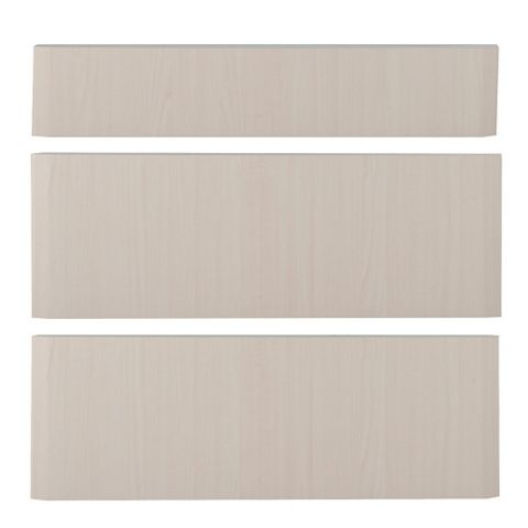 IT Kitchens Sandford Maple Effect Modern Pan Drawer Front (W)800mm, Set of 3