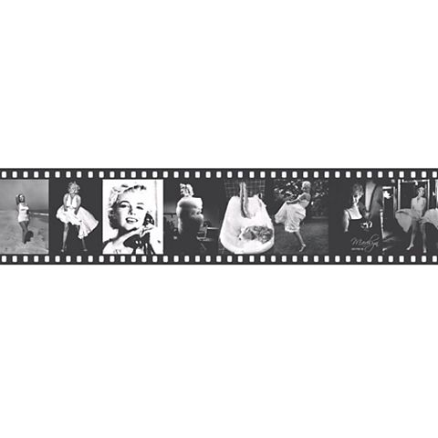 Lutece Marylin Monroe Black & White Film Strip Border
