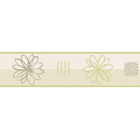 Lutece Spiral Flower Green Floral Border