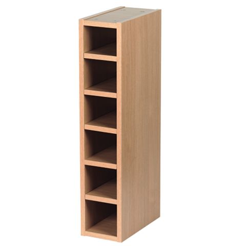 IT Kitchens Oak Style Shaker Wine Rack Cabinet, 150 x 290 x 720mm